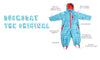 Ace Light Blue Rainsuit Features