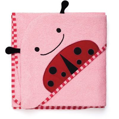 Zoo Hooded Towel - Ladybird, by Skip Hop