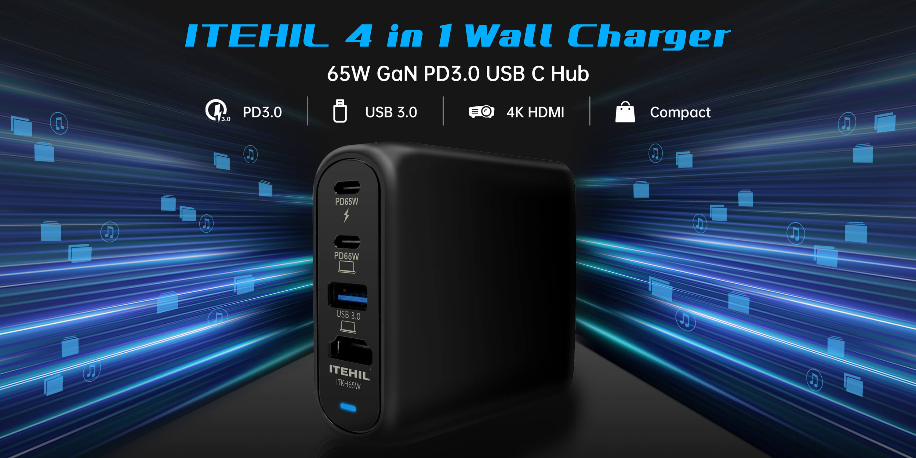 65W GaN Fast Charger