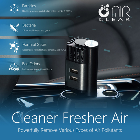 What does the AirClear Car Air Purifier protect you against