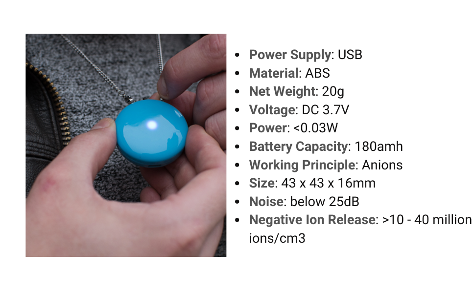 airclear store wearable air purifier necklace specifications