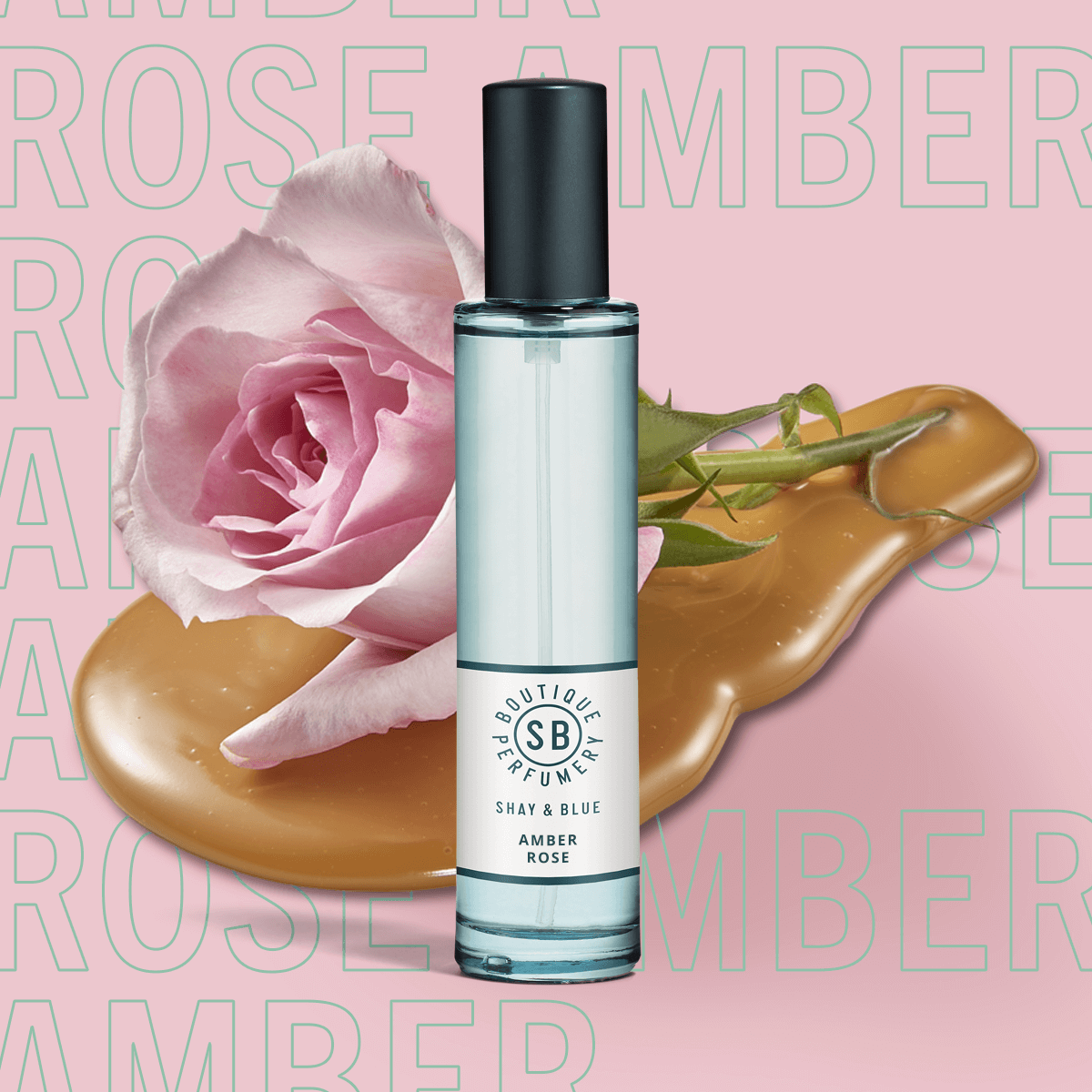 Amber Rose Fragrance 30ml | New season May Rose is blended with white amber and sweet creamy notes. | Clean All Gender Fragrance | Shay & Blue