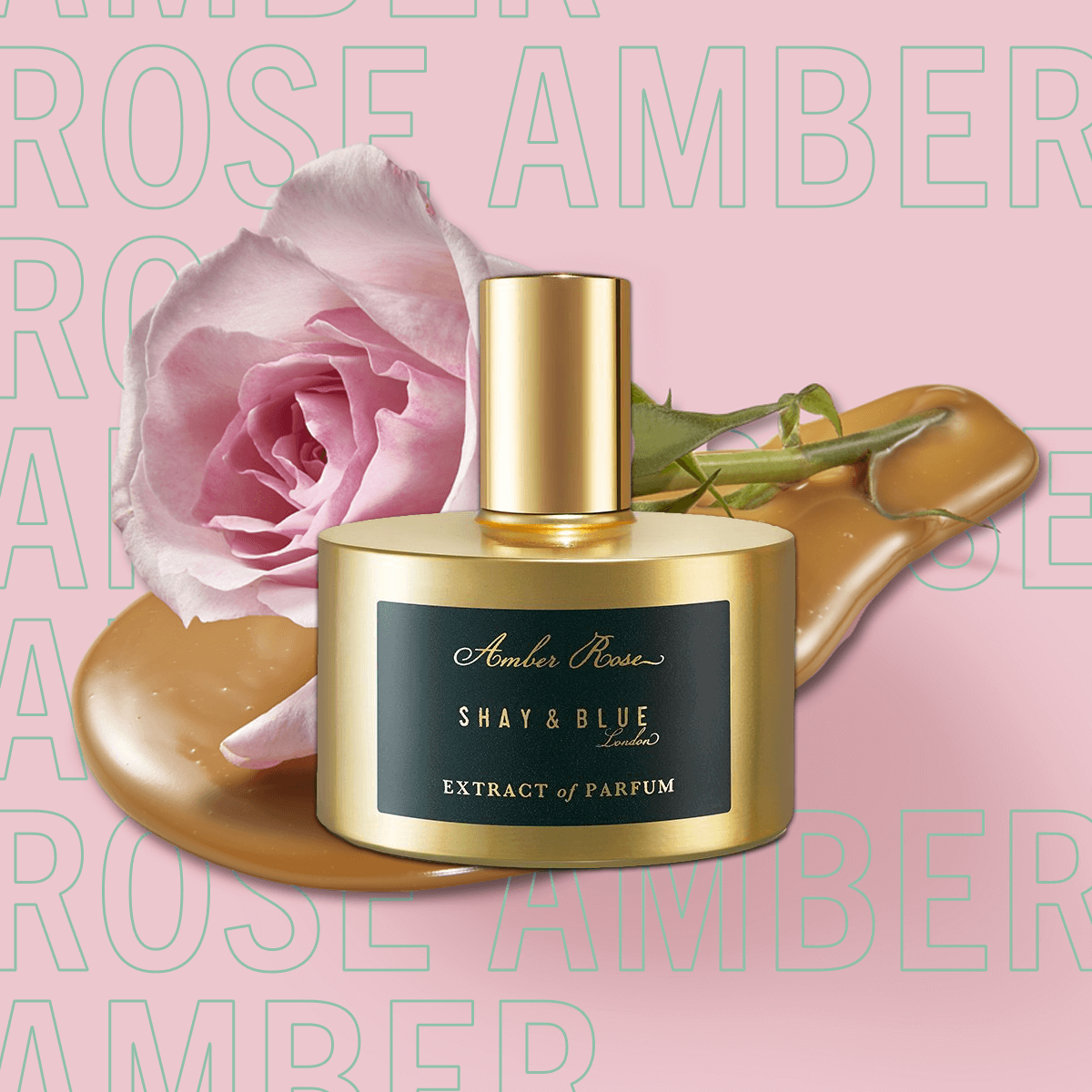 Amber Rose Extract of Parfum 60ml | New season May Rose is blended with white amber and sweet creamy notes. | Clean All Gender Fragrance | Shay & Blue