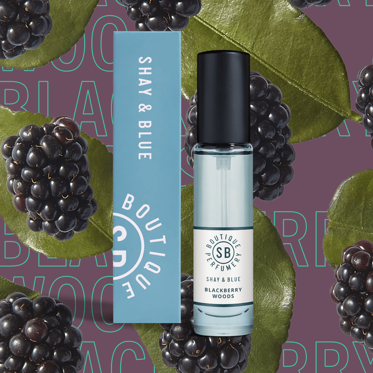 Blackberry Woods Fragrance 10ml | Glossy berry juice with punk-sharp citrus. | Clean All Gender Fragrance | Shay & Blue