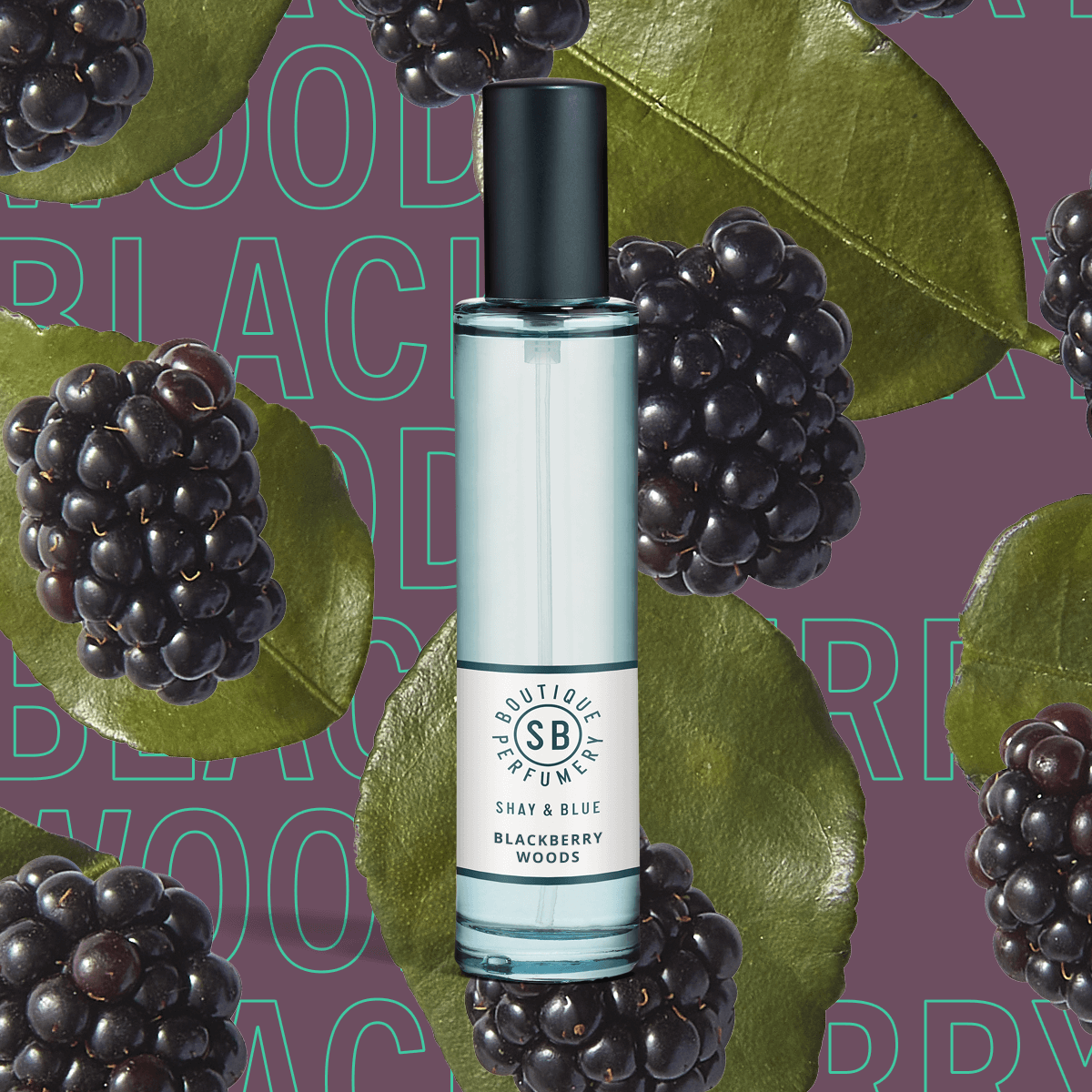 Blackberry Woods Fragrance 30ml | Glossy berry juice with punk-sharp citrus. | Clean All Gender Fragrance | Shay & Blue