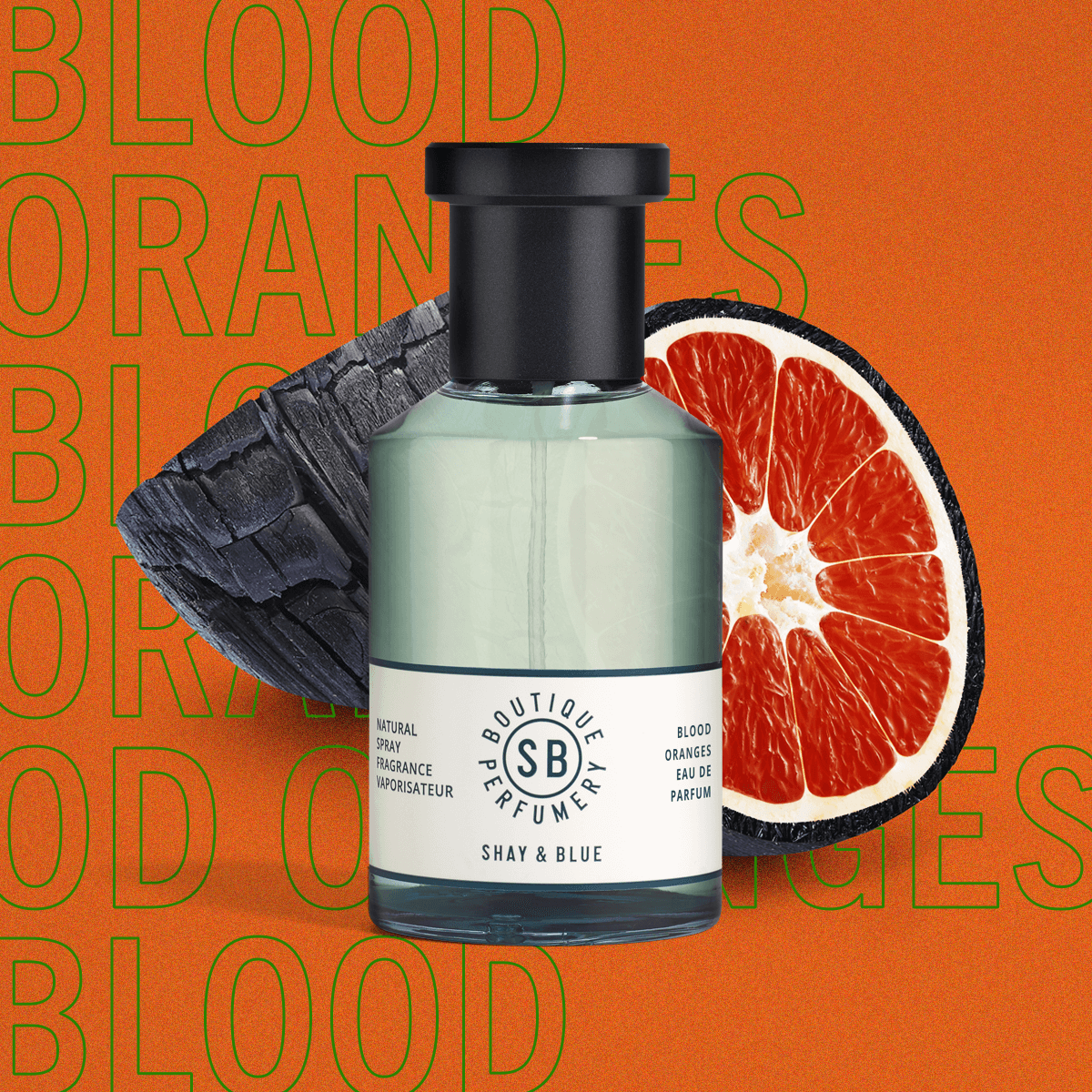 Blood Oranges Fragrance 100ml | Zesty blood oranges with rich and sensual blend of  woods and smoky leather. | Clean All Gender Fragrance | Shay & Blue