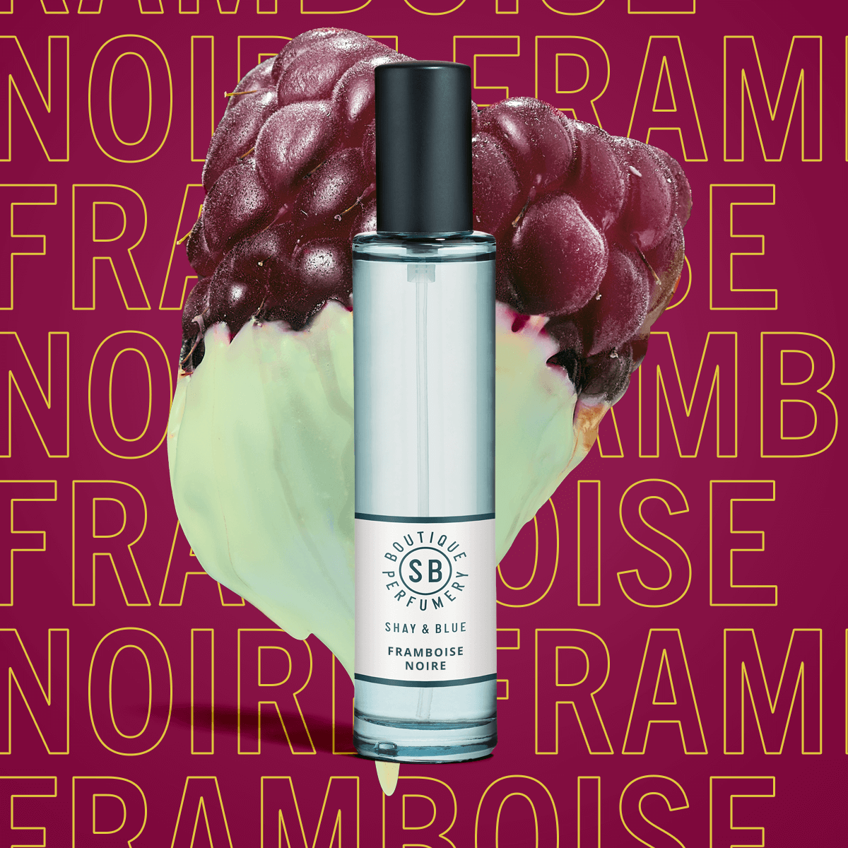 Framboise Noire Fragrance 30ml | Black raspberry and forest berries deepen with the heart of black wood. | Clean All Gender Fragrance | Shay & Blue