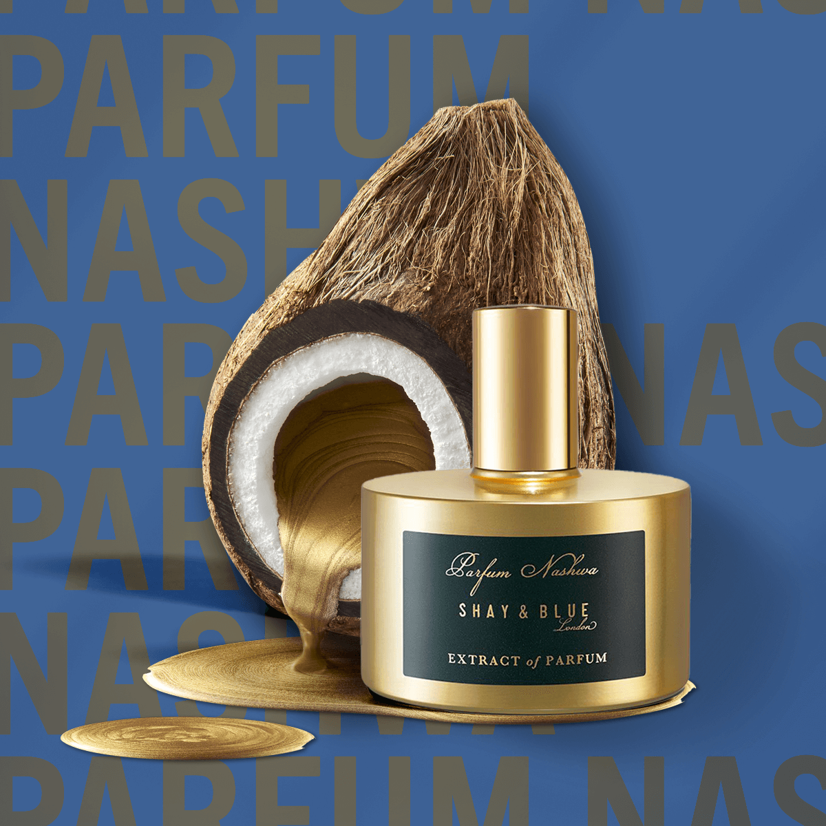 Parfum Nashwa Extract of Parfum 60ml | Rich notes of cacao noir and coconut melt over dark oud wood. | Clean All Gender Fragrance | Shay & Blue