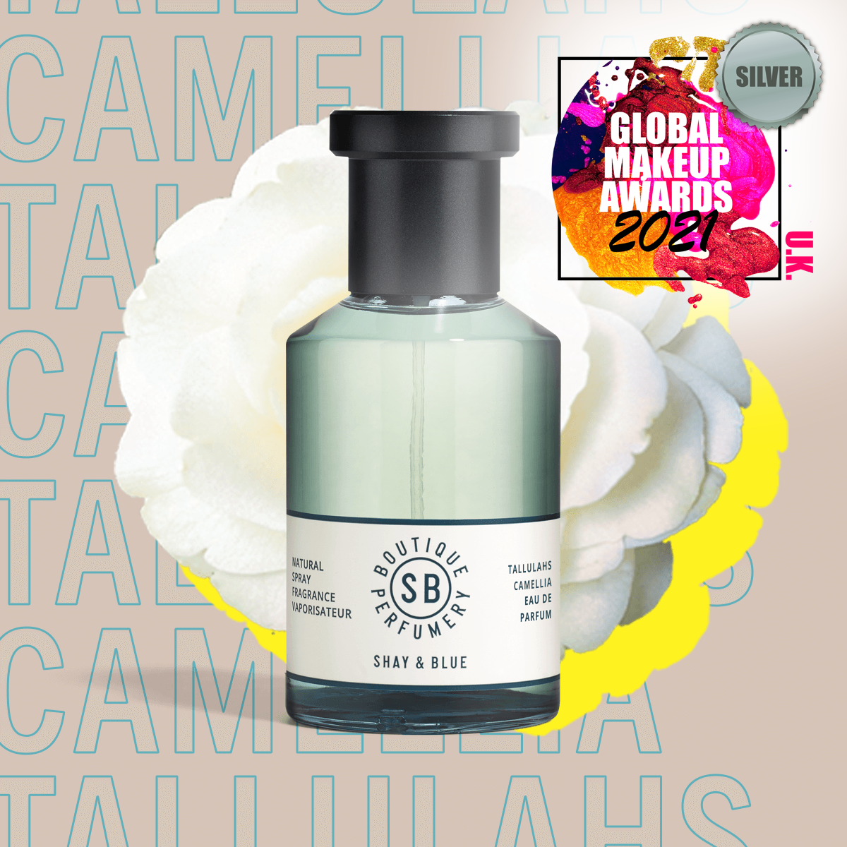 Tallulahs Camelia Fragrance 100ml | Elegant bluebells with the soft whisper of white flowers. | Clean All Gender Fragrance | Shay & Blue