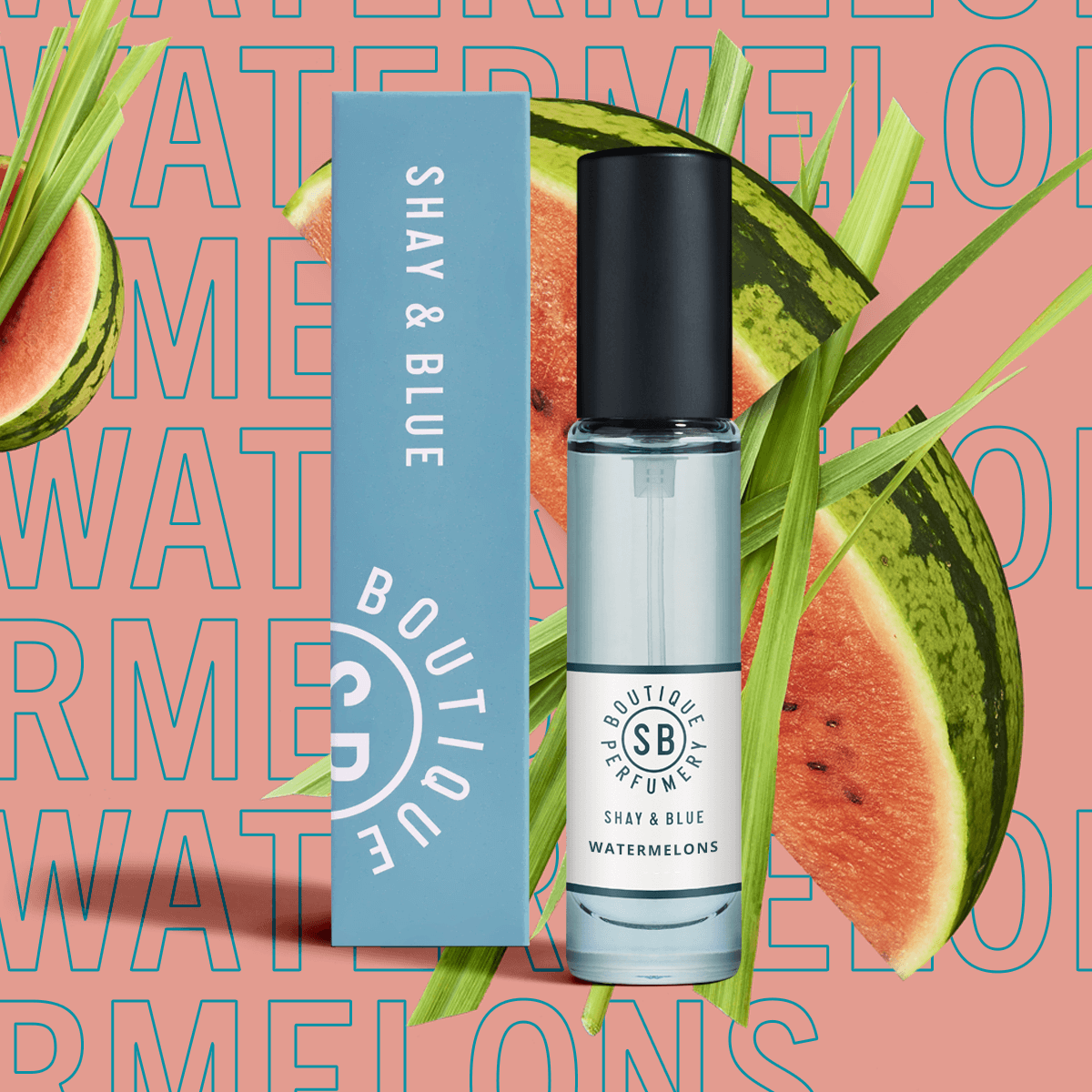 Watermelons Fragrance 10ml | Watermelon freshness with green mandarin and cut grass. | Clean All Gender Fragrance | Shay & Blue