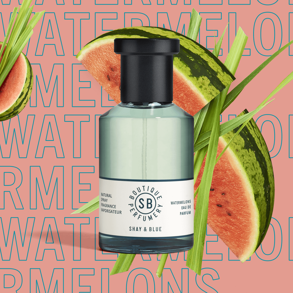 Watermelons Fragrance 100ml | Watermelon freshness with green mandarin and cut grass. | Clean All Gender Fragrance | Shay & Blue