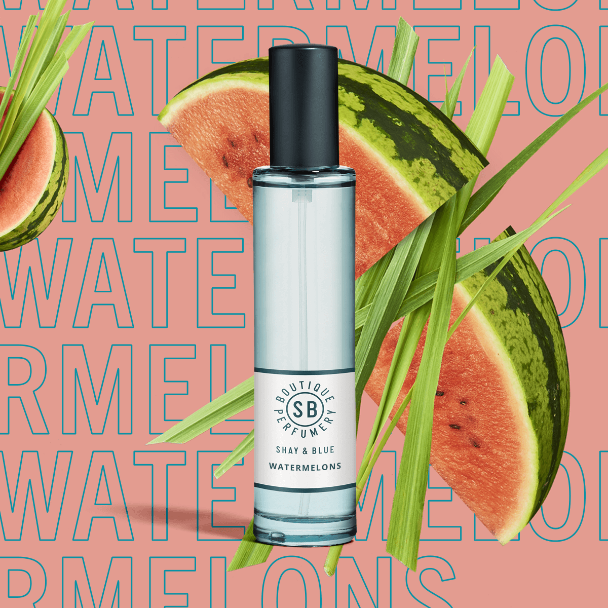Watermelons Fragrance 30ml | Watermelon freshness with green mandarin and cut grass. | Clean All Gender Fragrance | Shay & Blue