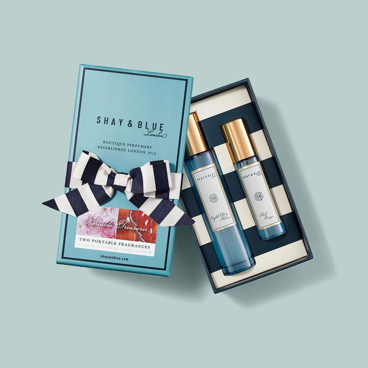 Portable Treasures Fragrance Duo | Gift Set of two of our bestselling boutique fragrances. | Clean All Gender Fragrance | Shay & Blue