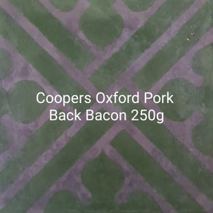 Coopers Oxford Pork Back Bacon 250g