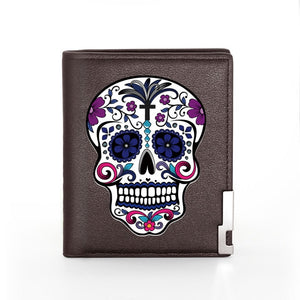Leather Skull Wallet