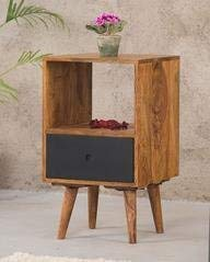 MP WOOD FURNITURE sheesham wood eva bedside table