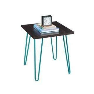 MP WOOD FURNITURE metal legs wooden bedside table - MP Wood Furniture