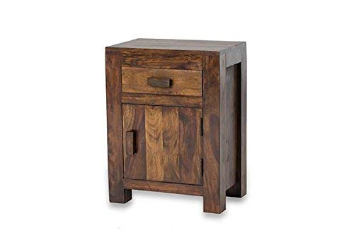 MP WOOD FURNITURE sheesham wood maharaja bedside table - MP Wood Furniture