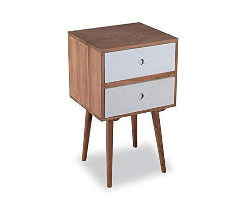 MP WOOD FURNITURE sheesham wood million bedside table with drawer - MP Wood Furniture