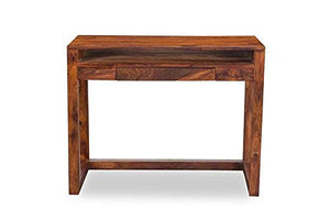 MP WOOD FURNITURE Sheesham wood study desk - teak finish