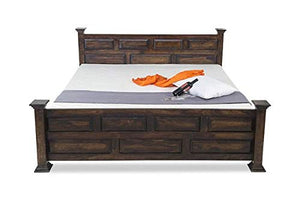 MP WOOD FURNITURE Sheesham wood bed - Dark Brown Finish