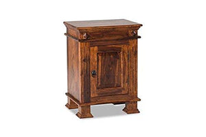 MP WOOD FURNITURE sheesham wood kuber bedside table with 3 drawer