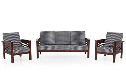 MP WOOD FURNITURE Sheesham wood 5 seater sofa sets - 3+1+1