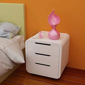 MP WOOD FURNITURE sheesham wood bedside table with 3 drawer - MP Wood Furniture