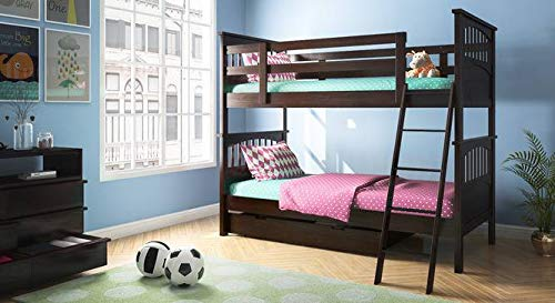 MP WOOD FURNITURE Sheesham wood bunk bed - brown - MP Wood Furniture