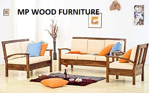 MP WOOD FURNITURE Sheesham wood 5 seater vernor sofa sets 3+1+1