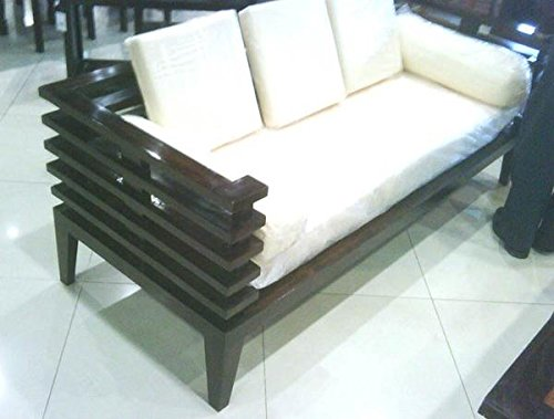 MP WOOD FURNITURE sheeshm wood 5 seater  kuber sofa set (3+1+1) - MP Wood Furniture