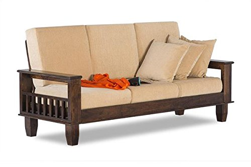 MP WOOD FURNITURE sheesham wood jodhpuri 5 seater sofa set (3+2+1)