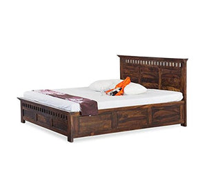 MP WOOD FURNITURE Sheesham wood bed - Mahogany Finish - MP Wood Furniture