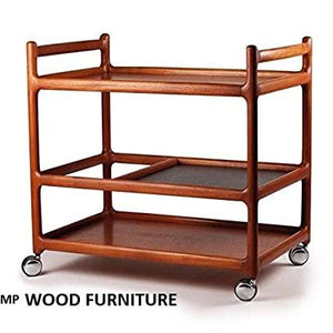 MP WOOD FURNITURE  Wooden Bar trolley