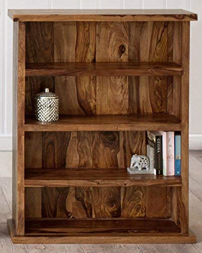 Mp Wood Furniture Sheesham Wood Bookshelf - Honey - MP Wood Furniture