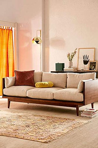MP WOOD FURNITURE Sheesham wood 3 seater sofa set - brown - MP Wood Furniture