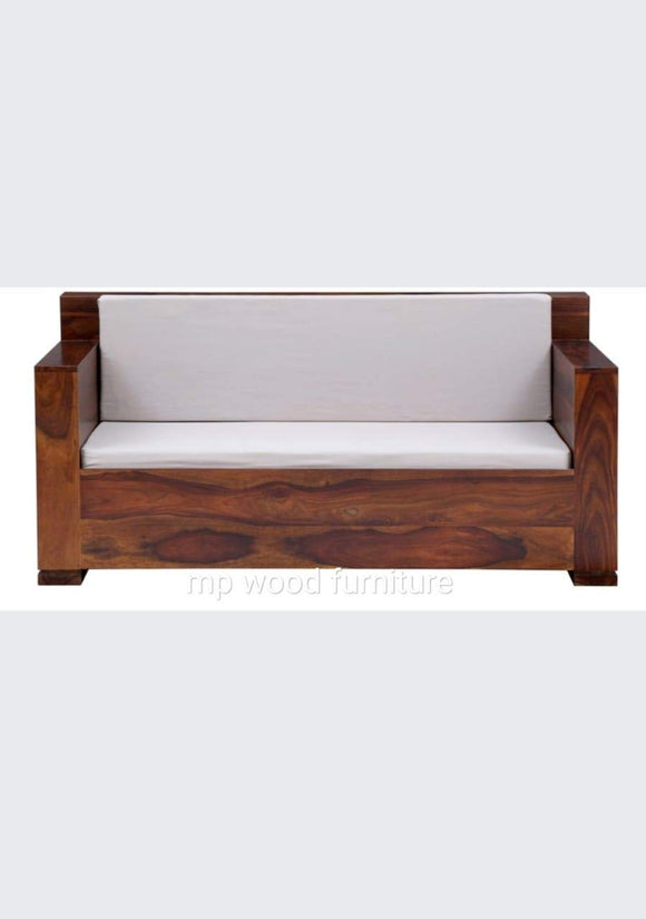 MP WOOD FURNITURE Sheesham wood 5 seater sofa sets (3+1+1) - teak finish - MP Wood Furniture
