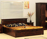 MP WOOD FURNITURE Sheesham wood bed - Mahogany Finish
