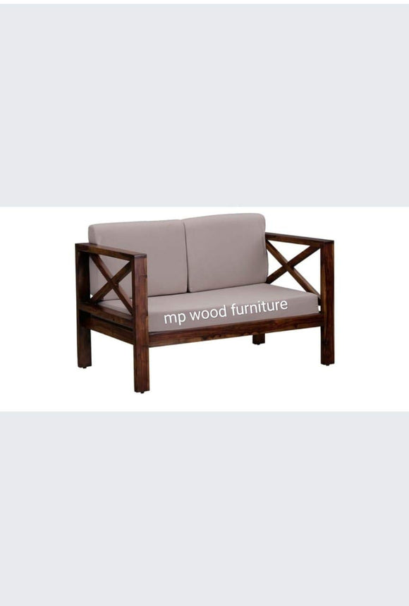 MP WOOD FURNITURE solid wood 5 seater new kuber sofa sets (2+1+1)