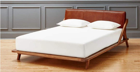 MP WOOD FURNITURE Sheesham wood queen size bed - Brown Finish