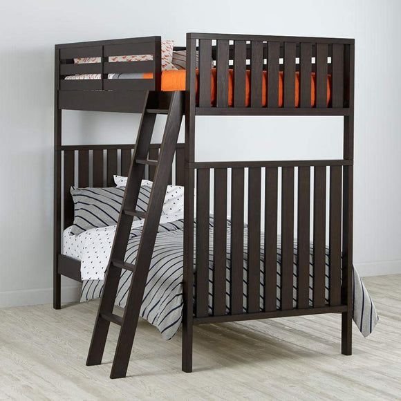 MP WOOD FURNITURE Sheesham wood bunk bed - dark brown - MP Wood Furniture