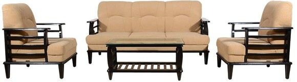 MP WOOD FURNITURE Sheesham wood 5 seater sofa sets 3+1+1