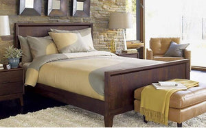 MP WOOD FURNITURE Sheesham wood king size bed - Walnut Finish - MP Wood Furniture