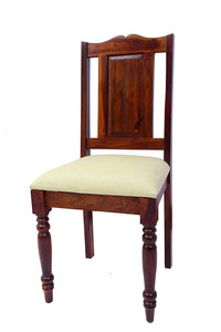 MP WOOD FURNITURE Sheesham Wood Dining Study Chairs  - Maple Finish - MP Wood Furniture