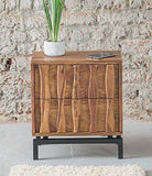 MP WOOD FURNITURE sheesham wood bedside table - natural finish