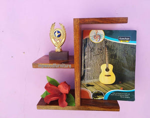 MP WOOD FURNITURE Sheesham wood wall shelf - natural finsih - MP Wood Furniture