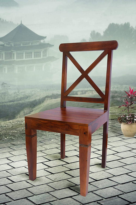 MP WOOD FURNITURE Sheesham Wood Dining Study Chairs  -  Rosewood Finish