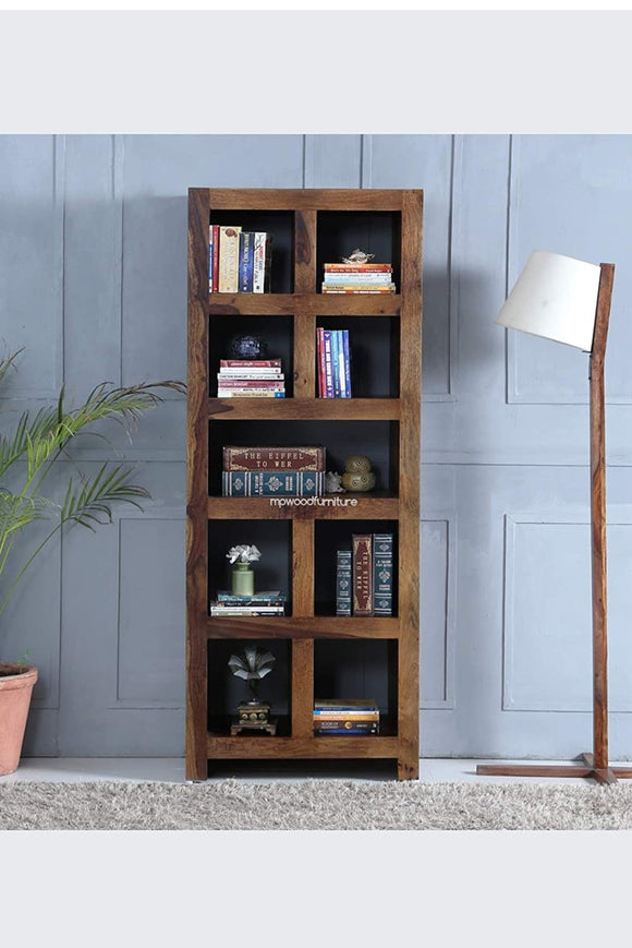 MP WOOD Furniture Wood Bookshelf - Provincial Teak Finsh - MP Wood Furniture