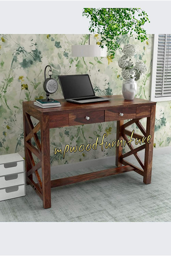 MP WOOD FURNITURE Sheesham Solid Wood Study Table Computer Table Desk for Living Room and Bedroom