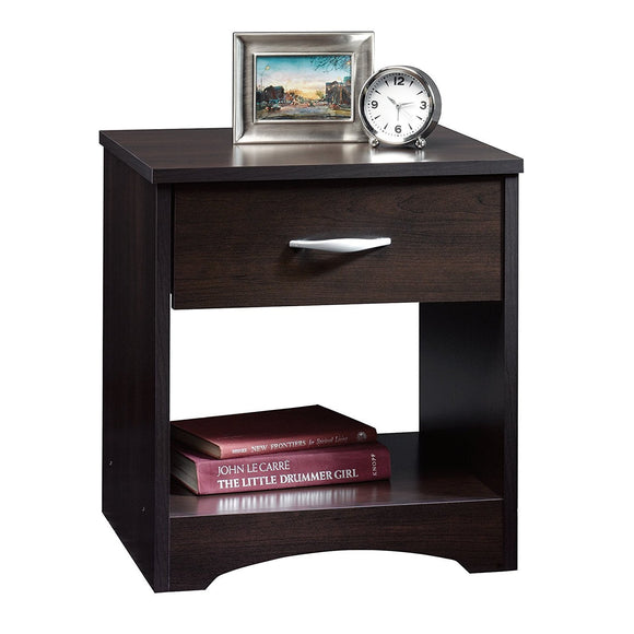MP WOOD FURNITURE sheesham wood bedside table with drawer - walnut